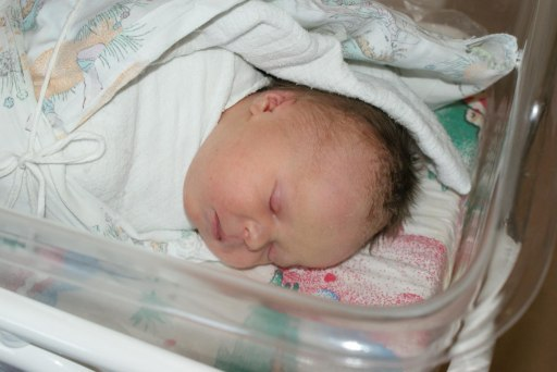 Kilka godzin po porodzie - 33kB