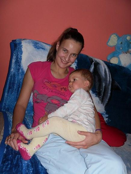 Przytulona do mamusi, oglądałam zwierzątka :)