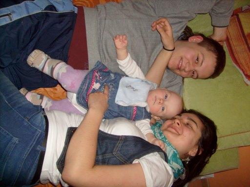 Magda z wujkiem i jego dziewczyną.