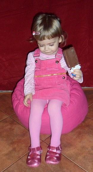 różowa landrynka.