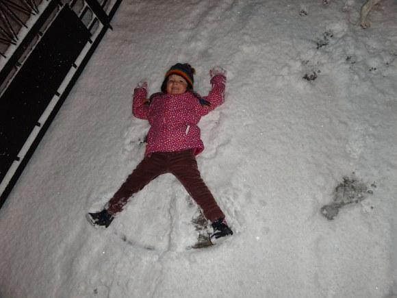 I pierwszy orzełak w  pierwszym śniegu :)