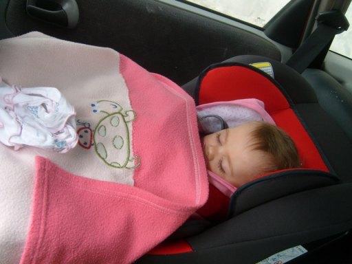 w samochodzie..